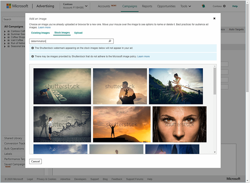 Free Stock Images with Microsoft Advertising